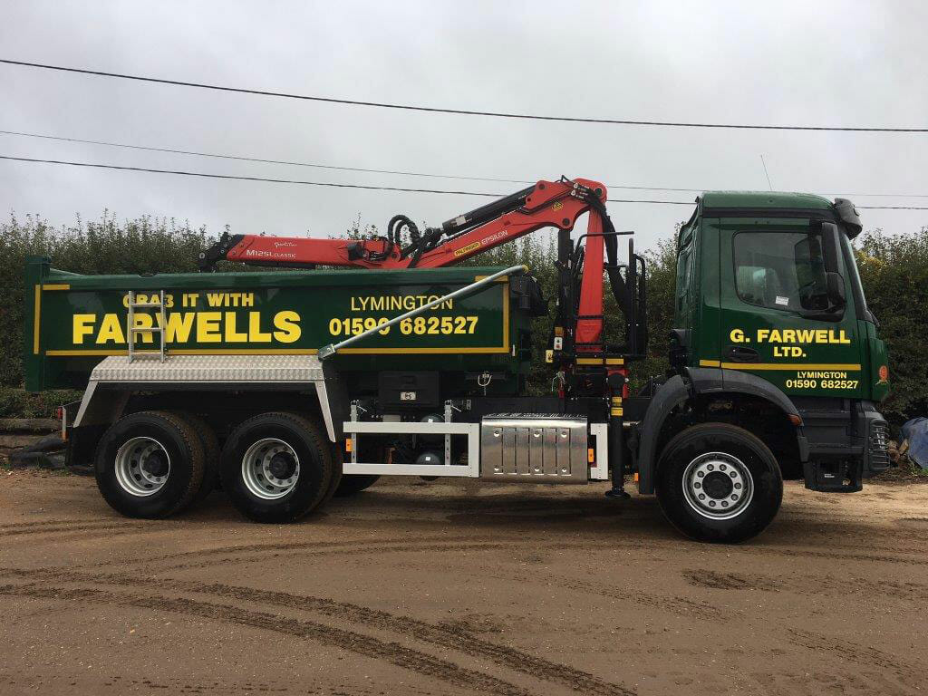 Farwell's Grab Lorry Hire   Hampshire & Dorset Muck Away Service